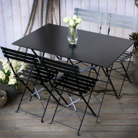 Rachel Bistro Set - Black (4 seater set)