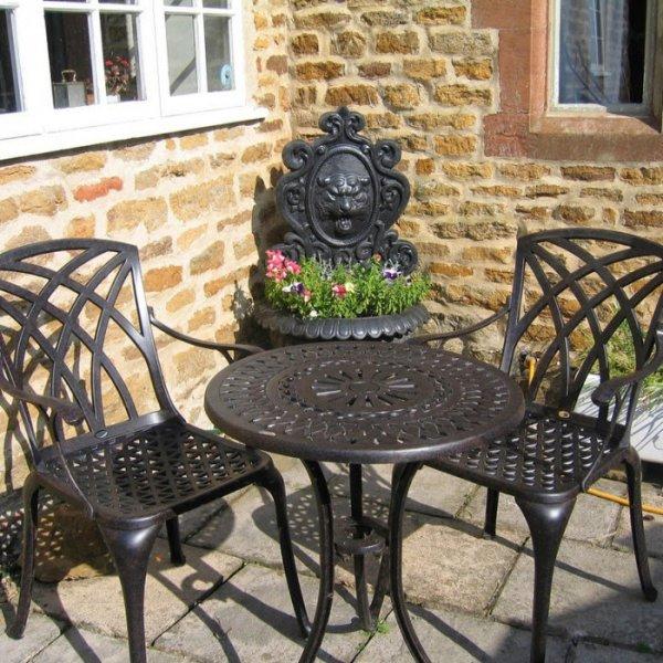 Eve Bistro Table - Antique Bronze (2 seater set)