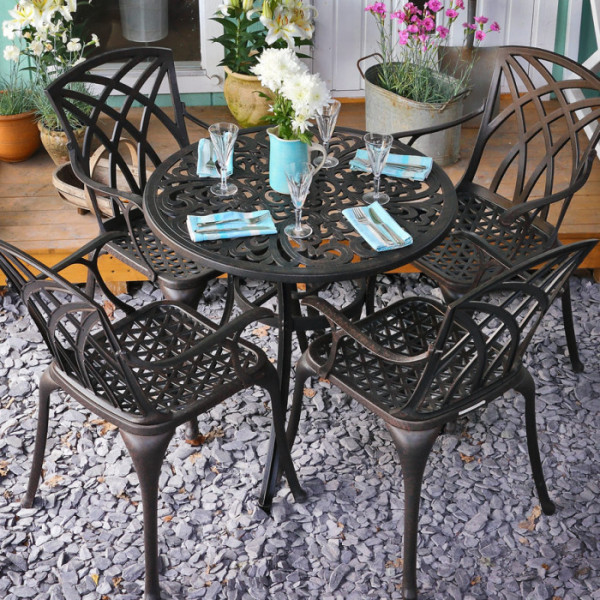Jill Table - Antique Bronze (4 seater set)