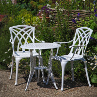 Ivy Bistro Table - White (2 seater set)