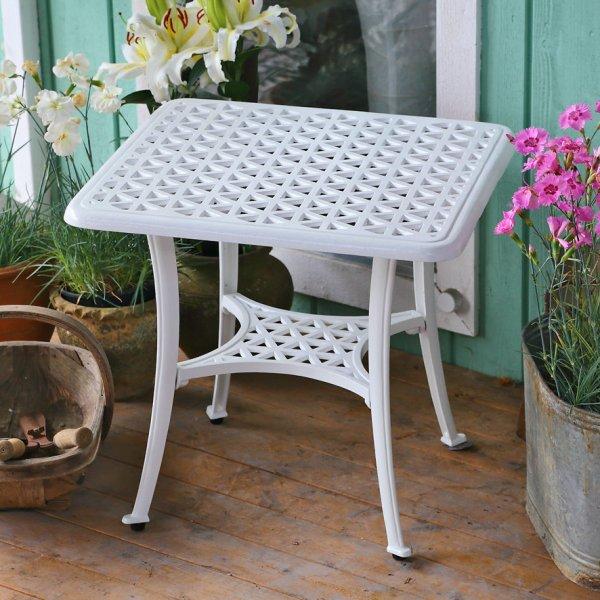 White_Sandra_Side_Table_Cast_Aluminium_Garden_Furniture_3