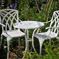 Eve Bistro Table - White (2 seater set)