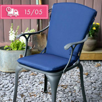 Curve Back Cushion - Blue