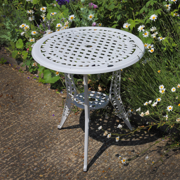 White_Ivy_Bistro_Table_Cast_Aluminium_Garden_Furniture_1