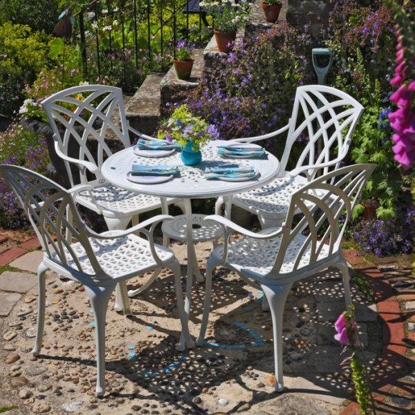 Anna Table - White (4 seater set)