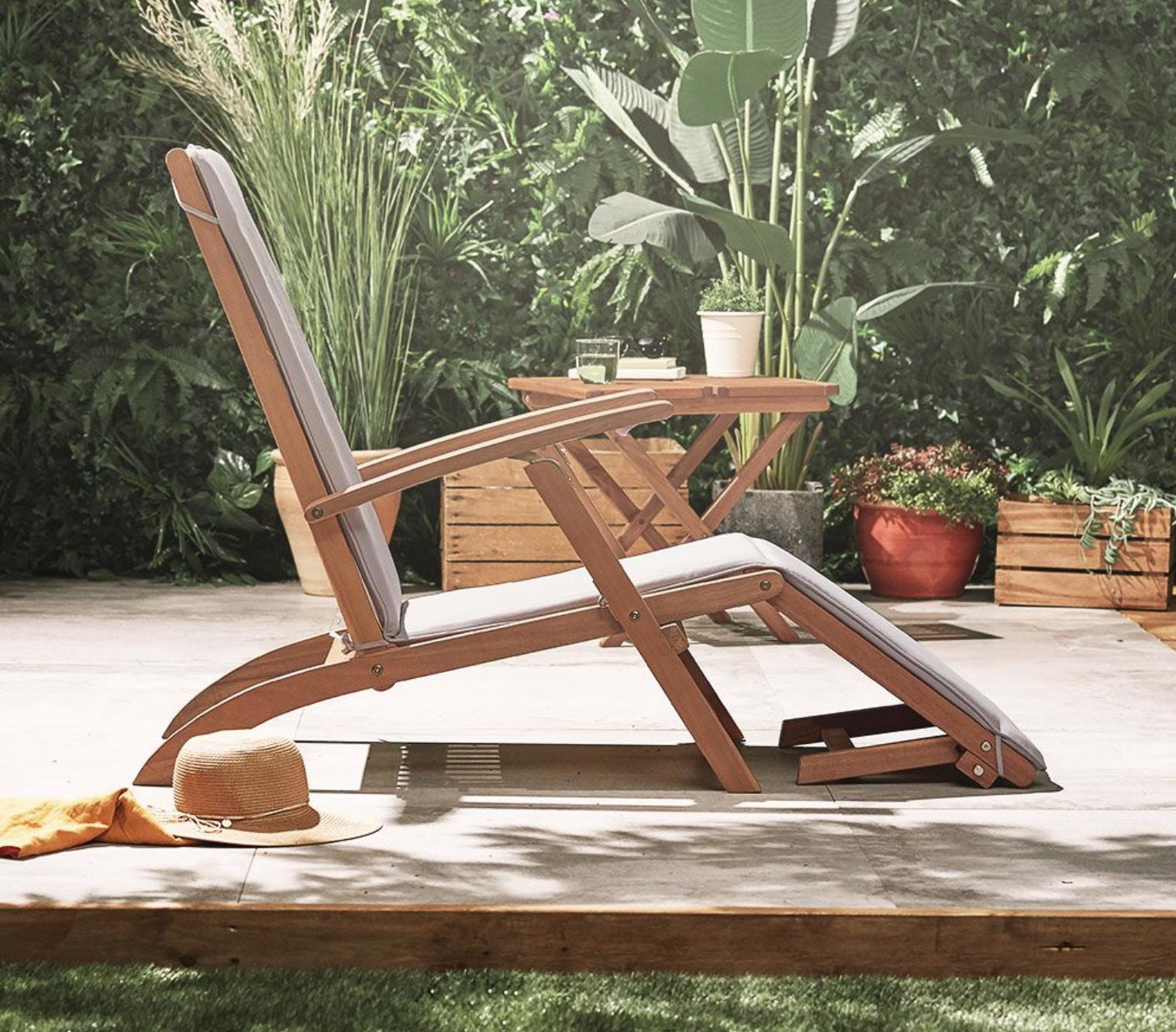 Steamer Reclining Garden Chair from Vonhaus
