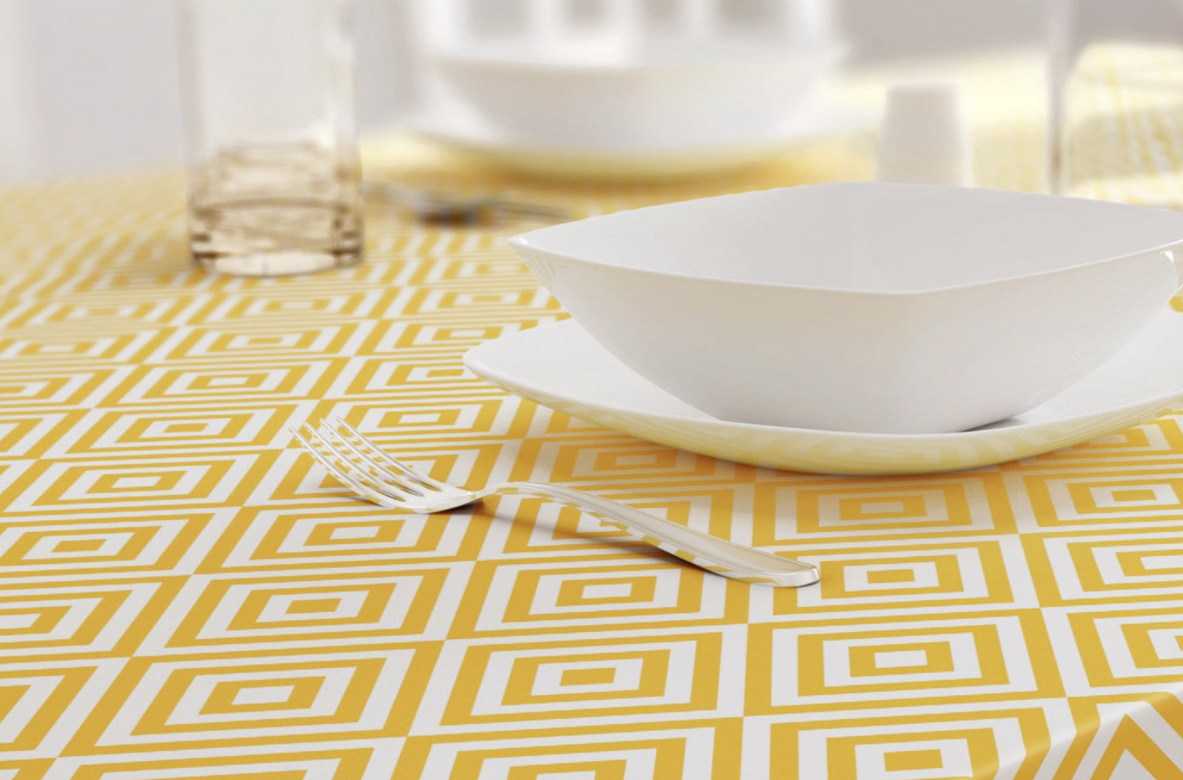 Ochre Modern Tablecloth