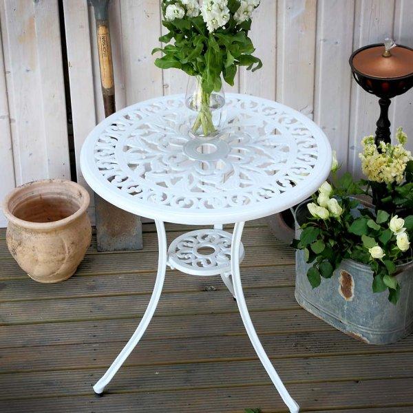 Tulip Bistro Table - White (2 seater set)