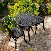 Rose Bistro Set - Antique Bronze (2 seater set)