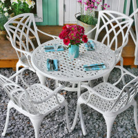 Hannah Table - White (4 seater set)
