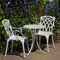 Ella Bistro Table - White (2 seater set)