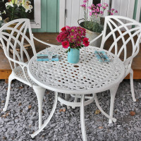 Hannah Table - White (2 seater set)