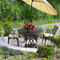 Alice Table - Antique Bronze (4 seater set)