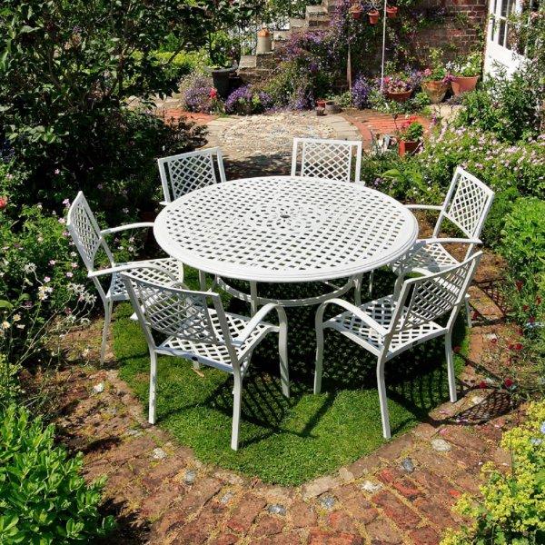White_Maisie_Cast_Aluminium_Garden_Furniture_6
