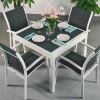 Ruby Table - White & Grey (4 seater set)