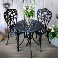 Tulip Bistro Set - Antique Bronze (2 seater set)