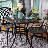Jill Table - Antique Bronze (2 seater set)