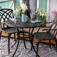 Jill Table - Antique Bronze (2 seater set)