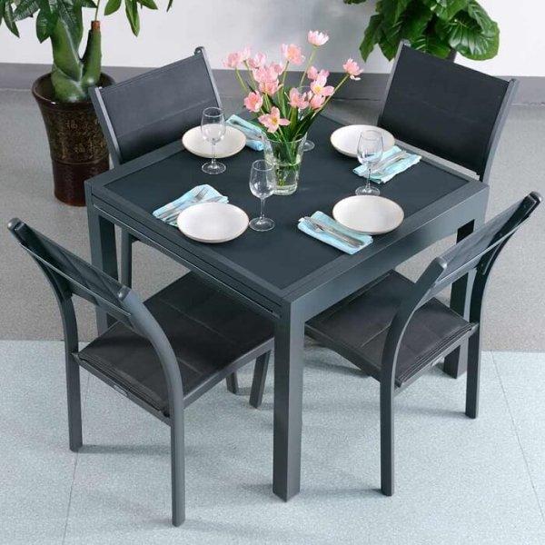 4_Seater_Petite_Modern_Grey_Metal_Aluminium_Weatherproof_Extending_Outdoor_Garden_Glass_Top_Dining_Table_Set_1
