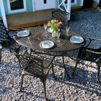 Emily Table - Antique Bronze (4 seater set)
