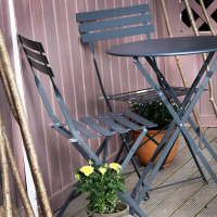 Alessia Bistro Table - Grey (4 seater set)