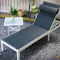 Michelle Lounger - White & Grey
