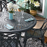 Alice Table - Slate (6 seater set)