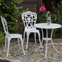 Tulip Bistro Set - White (2 seater set)
