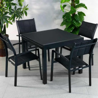 Chloe Table - Black (4 seater set)