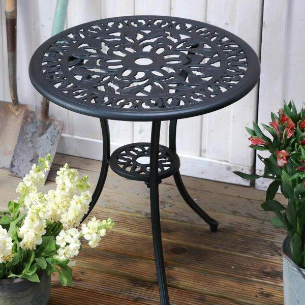 Tulip Bistro Table - Antique Bronze