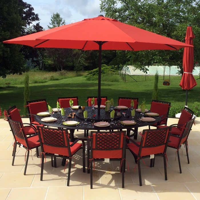10 Seater Victoria Oval Garden Table