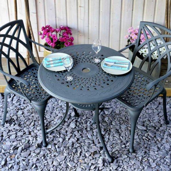 Anna Table - Slate (2 seater set)