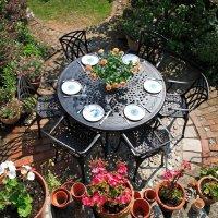 Amelia Table - Antique Bronze (6 seater set)