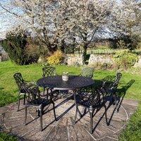 Frances Table - Antique Bronze (6 seater set)