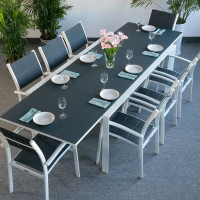 Violet Table - White & Grey (8 seater set)