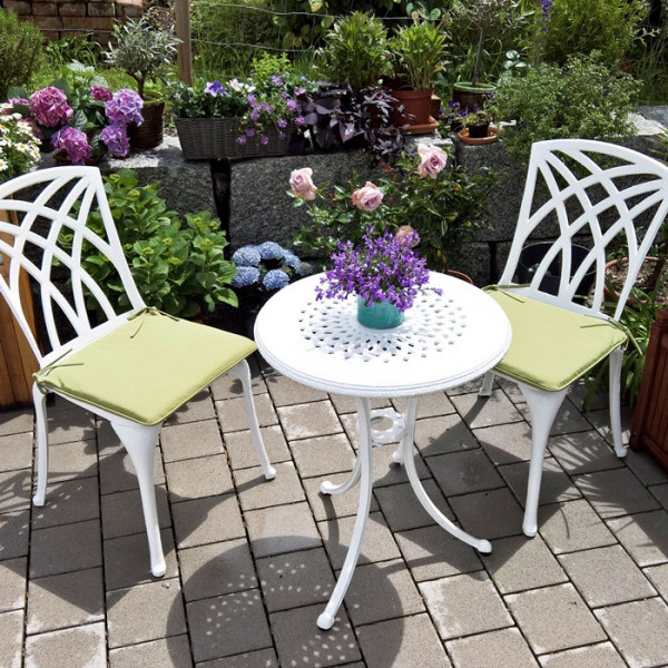 Ella Bistro Table - White (2 seater set)