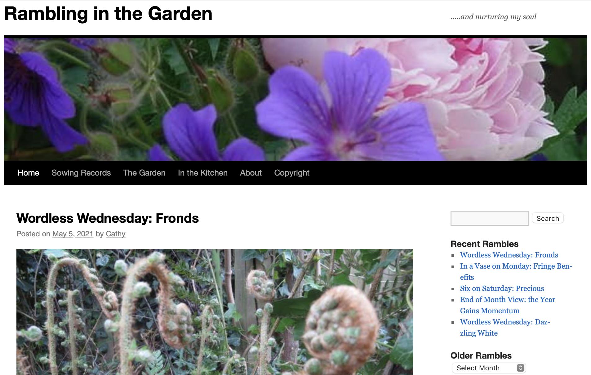 Rambling in the Garden Blog