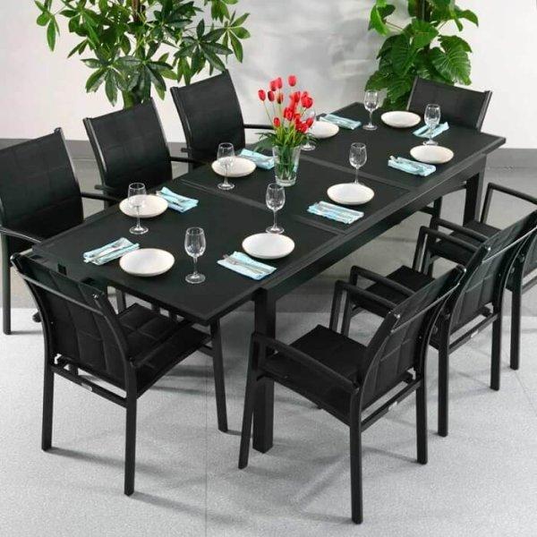 Florence Table - Black (8 seater set)