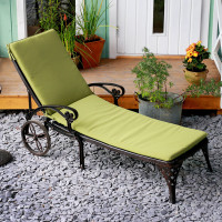 Lattice Lounger Cushion - Green