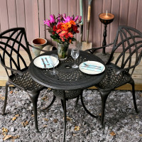 Anna Table - Antique Bronze (2 seater set)