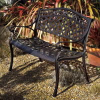 Rose Bench - Antique Bronze