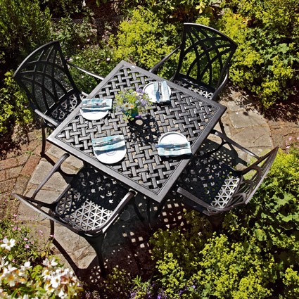 Lucy Table - Antique Bronze (4 seater set)