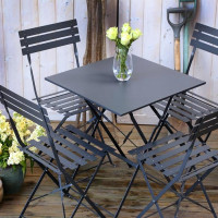 Zara Bistro Set - Grey (4 seater set)