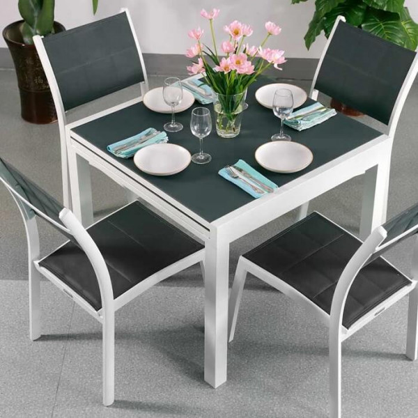 4_Seater_Petite_Modern_White_Grey_Metal_Aluminium_Extending_Outdoor_Garden_Glass_Top_Dining_Table_Set_2