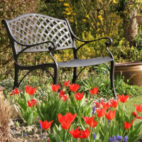 Jasmine Bench - Antique Bronze