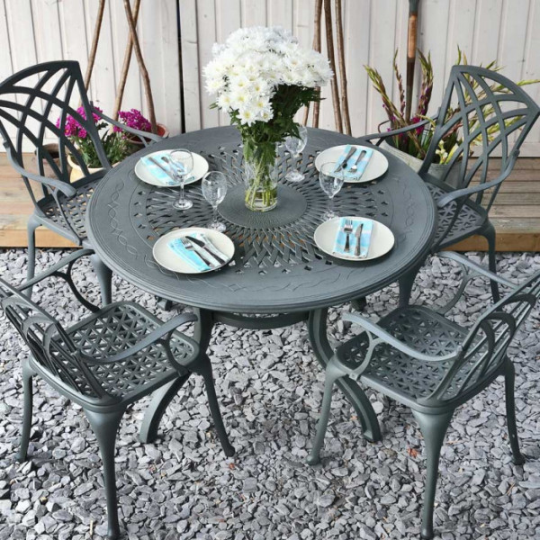 Amy Table - Slate (4 seater set)