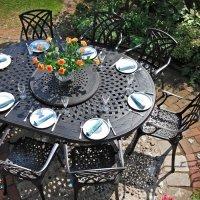 Gloria Table - 8 Seater - Antique Bronze (IRREGULAR)