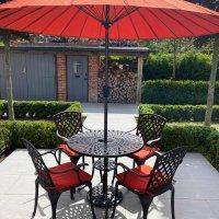 Mia Table - Antique Bronze (4 seater set)
