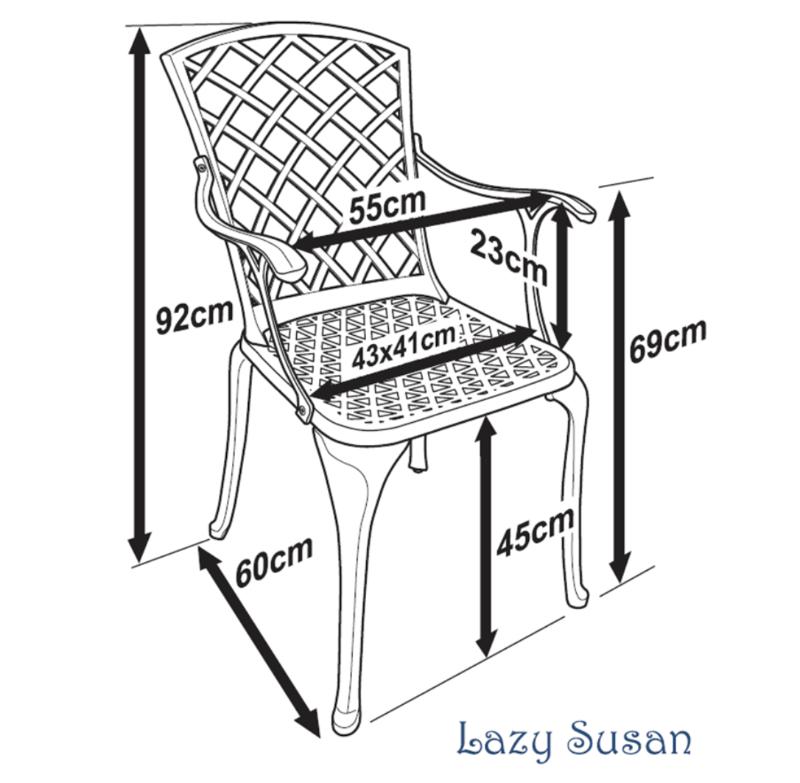 Emma Garden Chair Dimensions