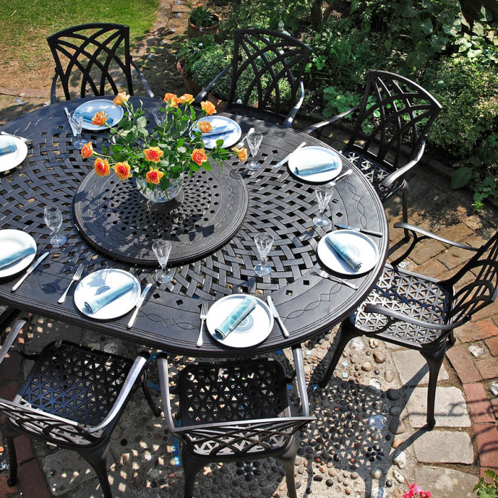 Gloria Oval 8 Seater Clearance Garden Tables